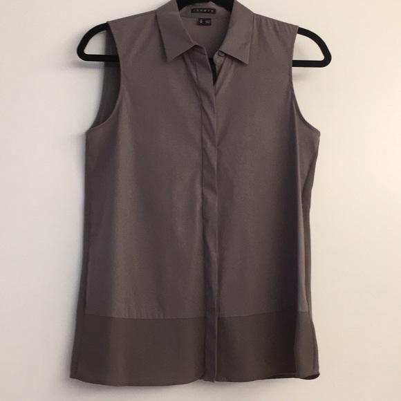 f4400453265214 Theory sleeveless blouse. M 5a9c551c9d20f0c0c9fa4541